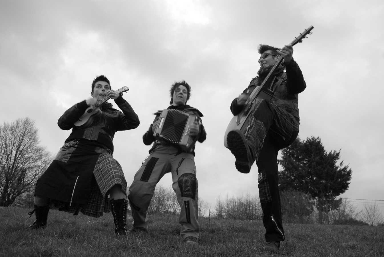 Les Fées Minées trio folk'n'roll Belgique tour 2016 Phto Cat VD