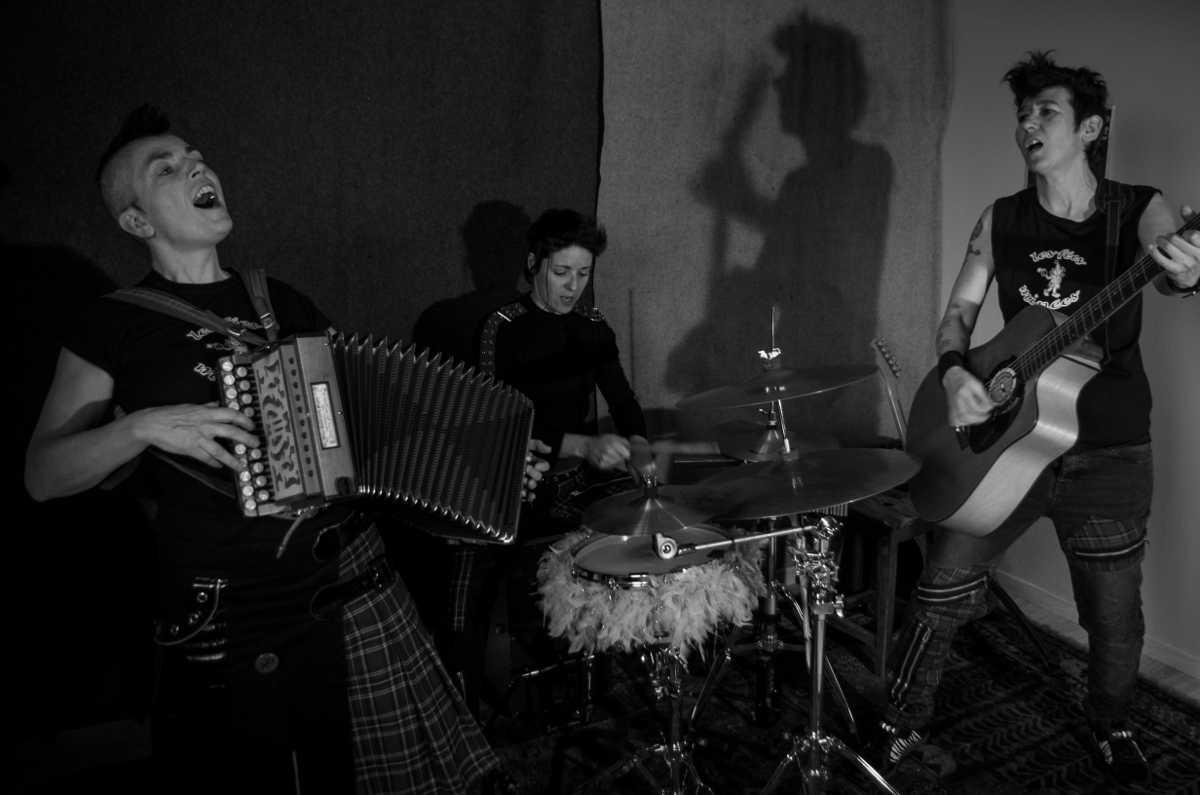 Les Fées Minées trio Folk'n'roll 2017 - Photo Zerf